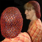 Quick Yarn Snood showing both a back view and a side view