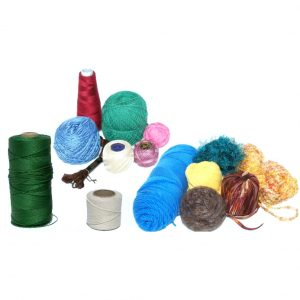 Cord, string, yarn, ribbon and thread are all used in netting.