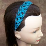 Net Headband using the Rickrack Stitch
