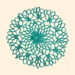 Floweret Circular Hot Pad - made with cotton yarn